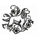 Graceful Cocker Spaniel von emblibrary.com